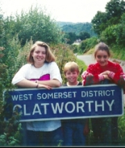 Clatworthy family by Clatworthy road sign