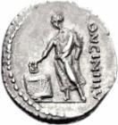 Roman denarius showing voting