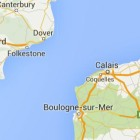 map of Calais and Dover