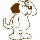 cartoon of puzzled dog