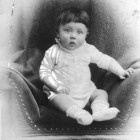 Hitler as a baby, via Wikimedia Commons