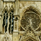 distorted cathedral wall