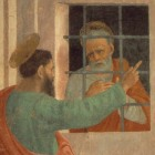Detail from Filippino Lippi's St Paul Visiting St Peter in Prison, via Wikimedia Commons. Caption: 'If in a sense we're all sinners, why aren't you here in prison with me?'