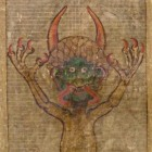 The devil. Codex Gigas, c. 1220. By Herman the Recluse of the Benedictine monastery of Podlažice, Public domain via Wikimedia Commons