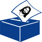 Ballot box with picture of Jesus