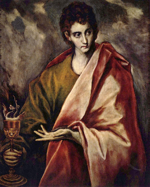 El Greco, St. John the Evangelist. Source:  Art in the Christian Tradition, a project of the Vanderbilt Divinity Library, Nashville, TN, USA