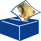 Ballot box with Blake's Ancient of Days