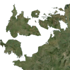 Map of England swivelling round