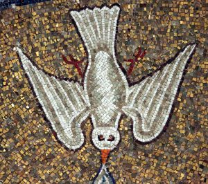 Holy Spirit, mosaic from Ravenna Baptistery, from Art in the Christian Tradition, a project of the Vanderbilt Divinity Library, Nashville, TN, USA.