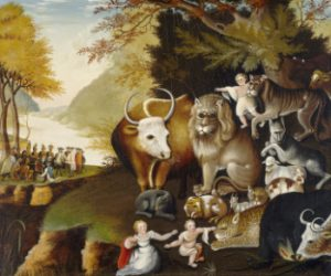 Edward Hicks (American, 1780 - 1849 ), Peaceable Kingdom, c. 1834, oil on canvas, Gift of Edgar William and Bernice Chrysler Garbisch