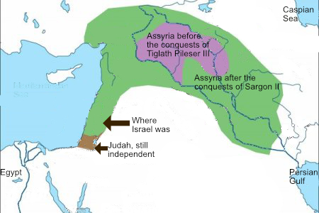 Map of Assyrian empire