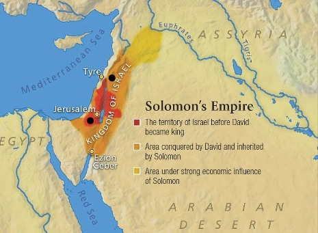 Map of Solomon's empire