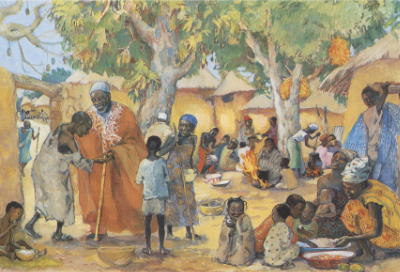 Children at a meal