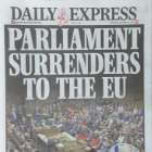 Headline from the Daily Express